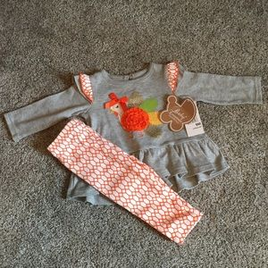 Baby Essentials 9m 2piece Thanksgiving outfit